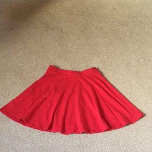 Forever 21 red circle skirt